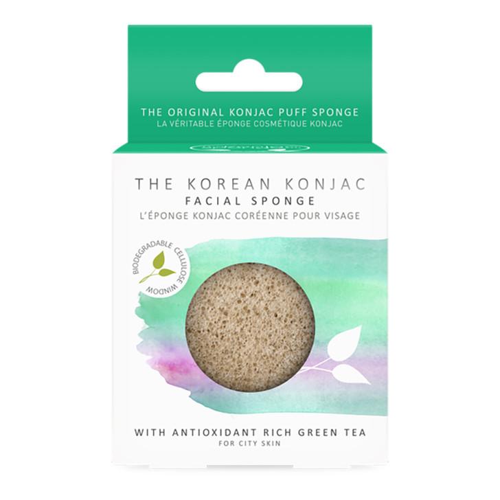 Konjac Premium Facial Puff Sponge With Green Tea