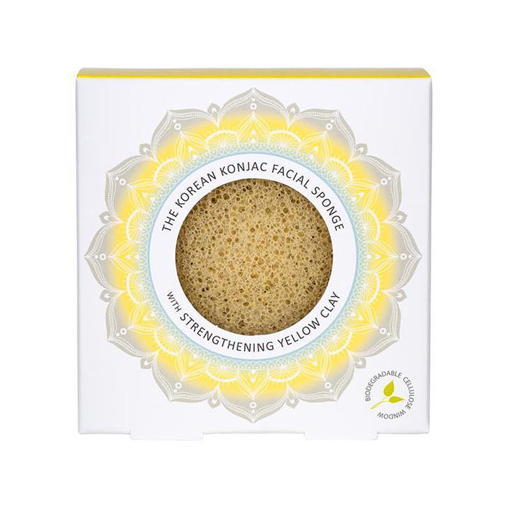 Konjac Mandala Facial Sponge With Yellow Clay