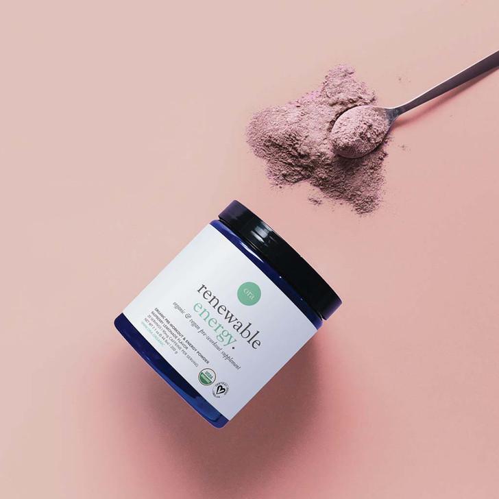 Organic Pre-Workout & Energy Powder (Renewable Energy) - Raspberry Lemonade 200g