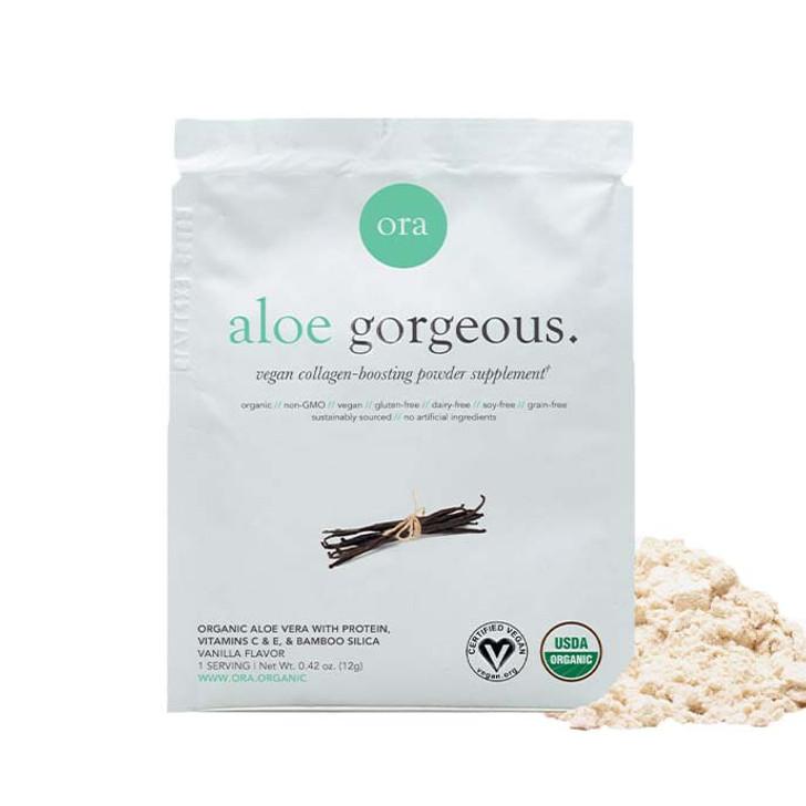 Organic Vegan Collagen-Boosting Powder Sachet(Aloe Gorgeous) - Vanilla 12g