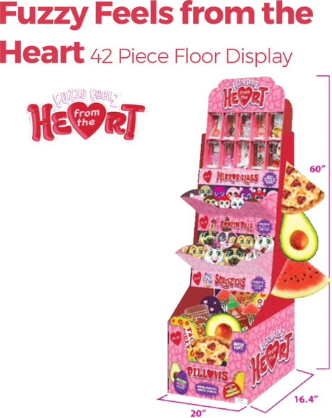 Fuzzy Feels from the Heart - 42pc Floor Display