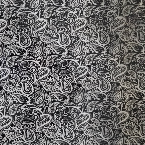 Black and White Paisley (50CM)