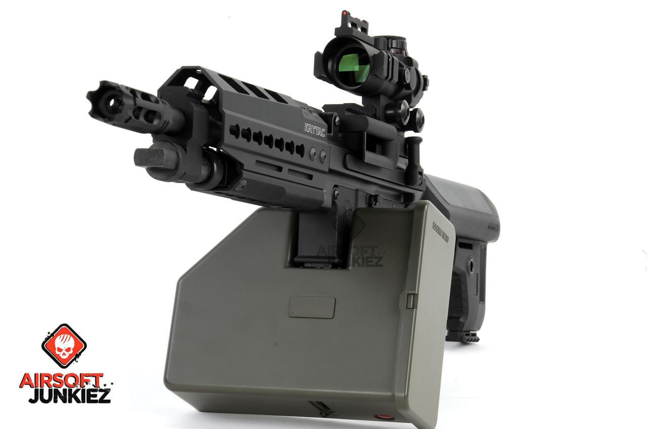 Krytac Full Metal Trident LMG Enhanced Airsoft AEG with Keymod - Black