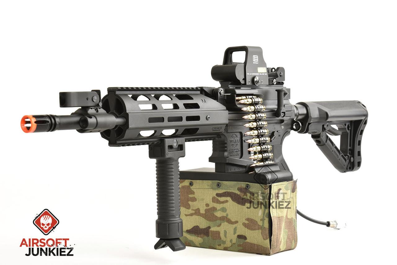 Airsoftjunkiez Custom G&G CM16 LMG w/Box Mag