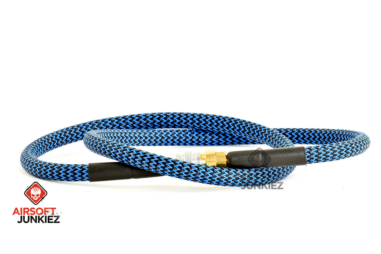 "Airsoft Junkiez Widebore Air Line 36"" - Black and Blue"