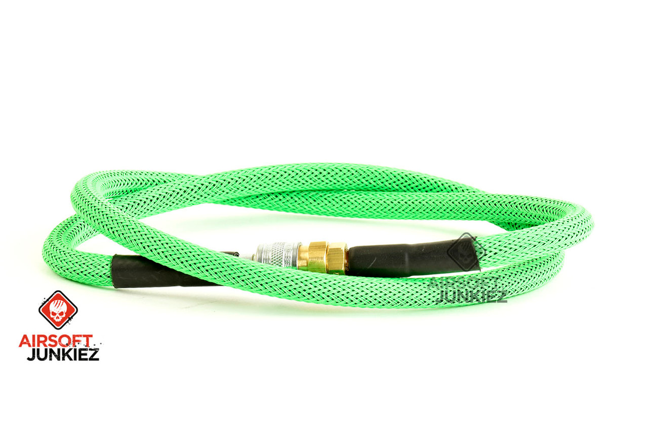 "Airsoft Junkiez Widebore Air Line 36"" - Neon Green"