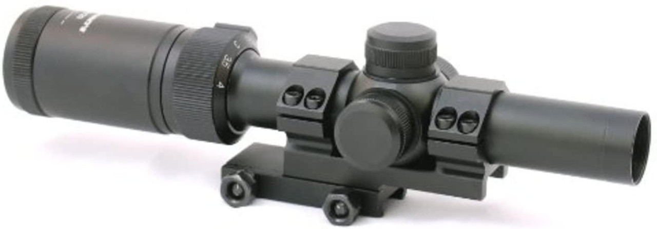 CenterPoint Tactical 1-4x20 Red & Green Illuminated Rifle Scope - Circle Dot Reticle