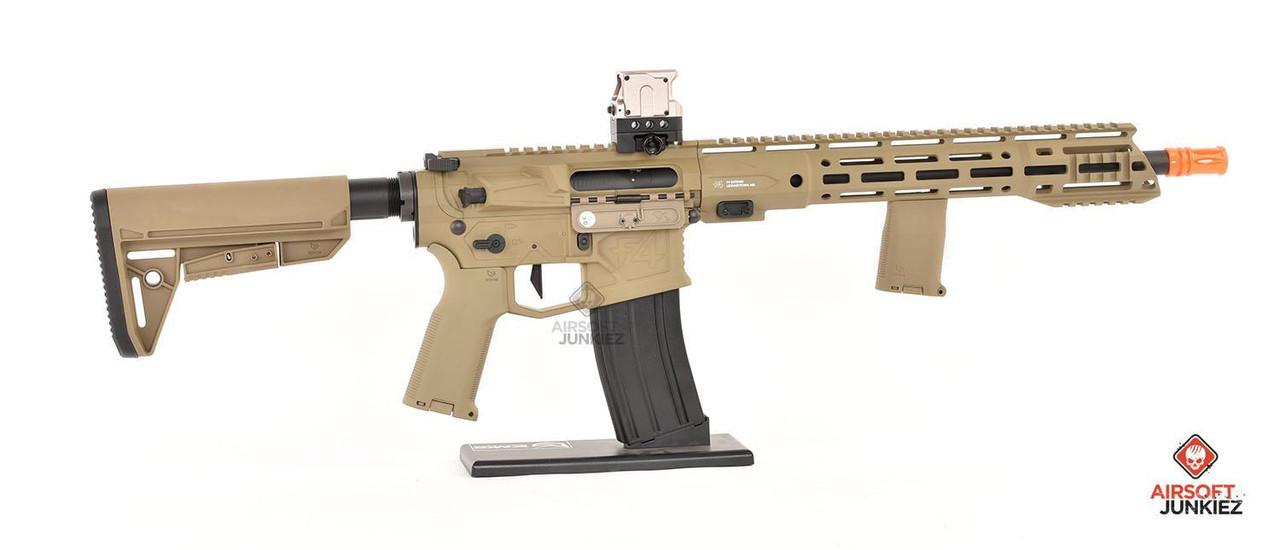 EMG Helios F4-15 ARS-L MLOK Carbine M4 - Tan HPA Package