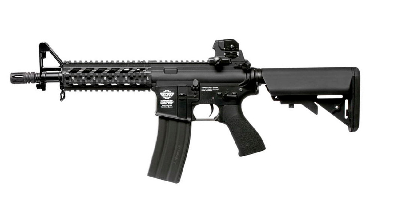 G&G Combat Machine CM16 Raider AEG Rifle  (Black) --  High Velocity 375 FPS