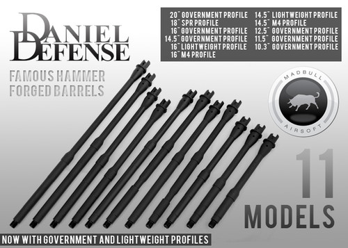 """Madbull Airsoft DD licensed 16"""" Government Profile - Mid"""