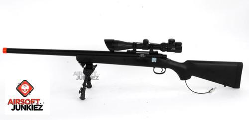 Airsoftjunkiez Full Metal Precision Sniper Rifle (Wolverine Bolt M System)(Black)