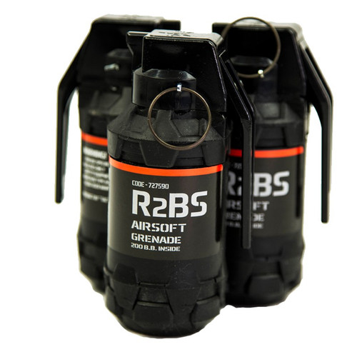 TAG R2BS AIRSOFT HAND GRENADE SET OF 6 (Pickup/Hazmat)