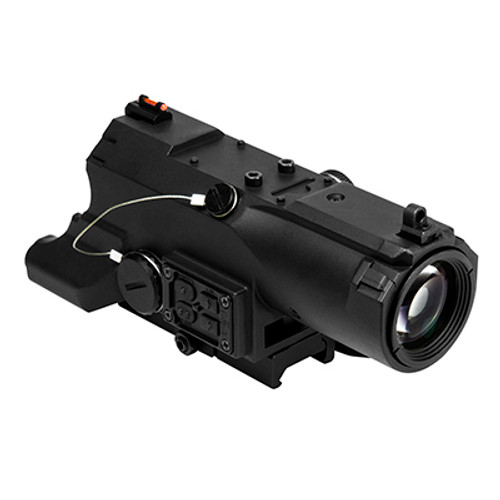 ECO MOD2 4X34 Scope w/GRN Laser/NAV LED /BLK