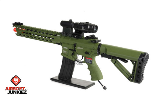Airsoftjunkiez G&G GC16 Predator HPA package-- Full Metal - Hunter Green