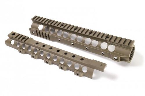 "Knight's Armament Co URX 3.1 13.5 Free Float Rail System for M4 / M16 Series Airsoft AEG Rifles - 13.75"" / Tan"