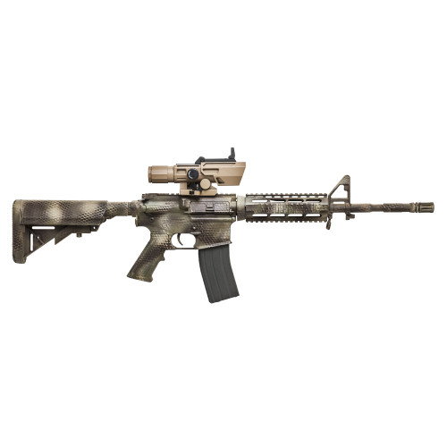 ADO 3-9X42 Scope w/Flip Up Red Dot Optic-Tan