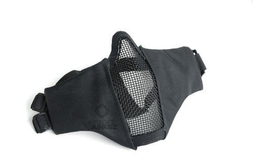 Mesh Foldable Lower Half Face Mask  - Black