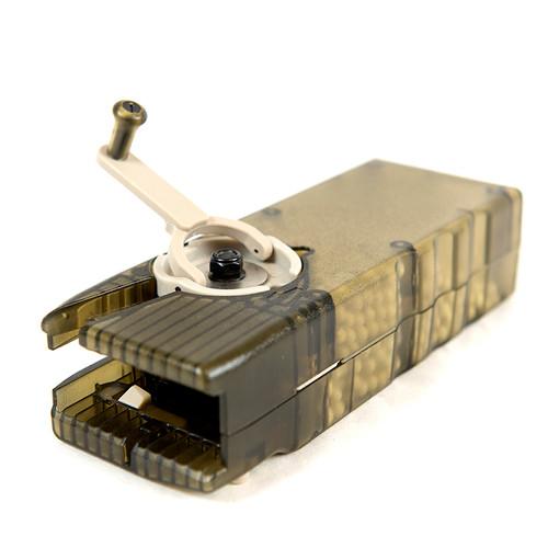 M12 Odin Sidewinder Speed BB Loader (Gun Smoke Grey) with Sound-Dampening Buffer