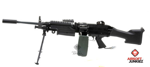Airsoftjunkiez PolarStar F2 Custom M249 Mk2 with Box Mag Shooting 400+ FPS