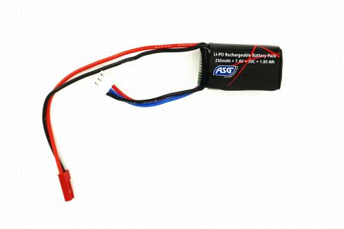 ASG FCU LiPo 7.4v 250mAh 20C Battery