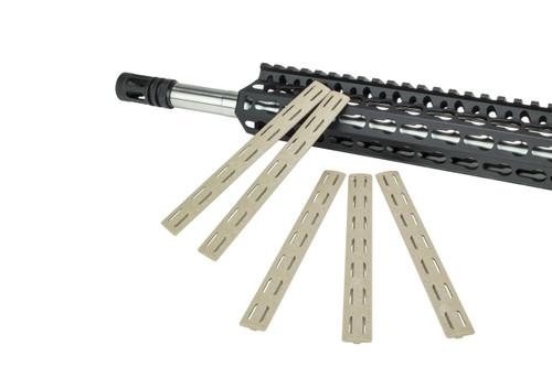 BCM® KeyMod™ Rail Panel Kit, 5.5-inch (FIVE Pack) - Tan
