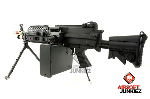 Airsoftjunkiez PolarStar F2 Custom MK46 with Box Mag