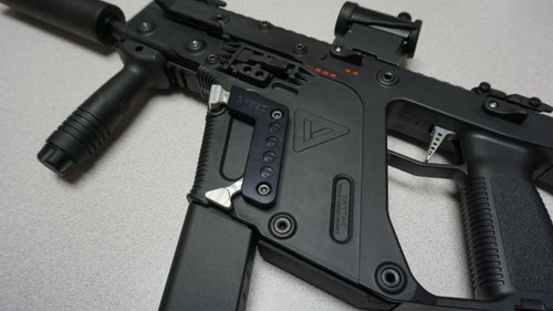 SPEED AIRSOFT MAGAZINE RELEASE FOR KRISS VECTOR AEG IN  BLACK/BLACK (SA3911)