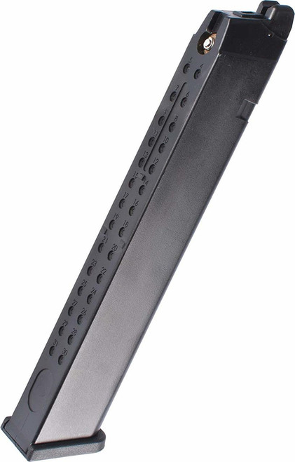 WE 50rd Extended Magazine for GLOCK G17 G19 G18C G34 ISSC M22 SAI and Compatible Series Airsoft GBB Pistols