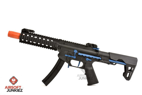 King Arms 9mm SBR PDW AEG Rifle - Blue