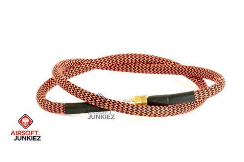 "Airsoft Junkiez Widebore Air Line 36"" - Black and Red"
