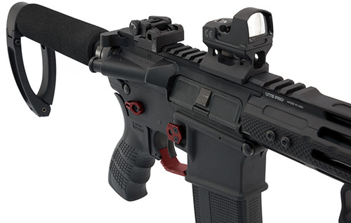 UTG® AR15 Ambidextrous Extended Magazine Release, Matte Red