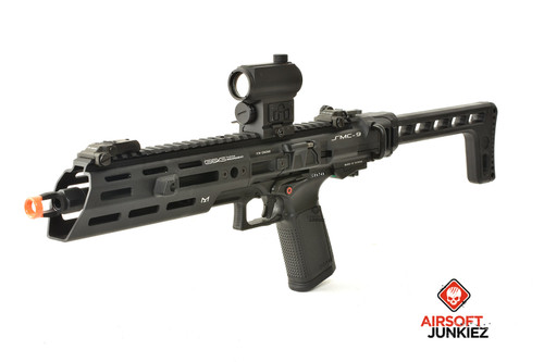 G&G SMC 9 Gas SMG Airsoft Carbine with GTP 9, Black