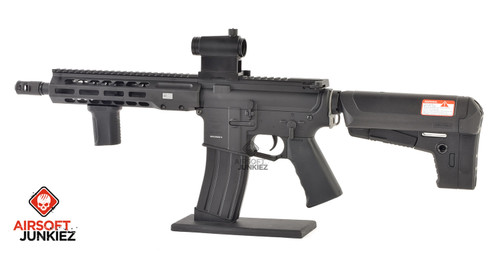 EMG / KRYTAC / BARRETT Firearms REC7 DI AR15 AEG Training Rifle - Black SBR