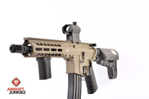 EMG / KRYTAC / BARRETT Firearms REC7 DI AR15 AEG Training Rifle - Tan SBR