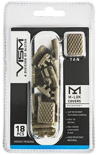 VISM M-lok Covers 18 pack (Black or Tan)