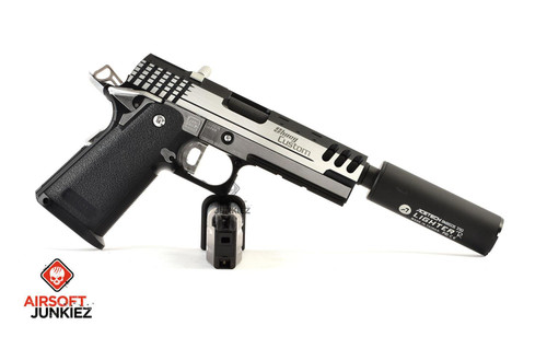 "AirsoftJunkiez Custom Hi-Capa ""MX Speed Silver"""