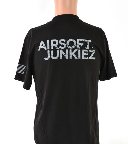Airsoftjunkiez Black T-Shirt