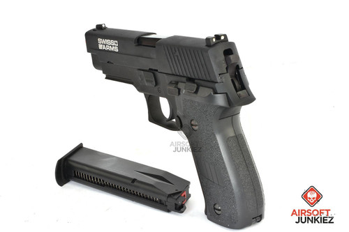 Swiss Arms Licensed 226 Airsoft Gas Blowback GBB Pistol | Railed