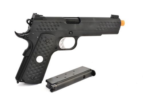 WE-Tech Custom 1911 Knighthawk Airsoft Gas Blowback Pistol | Black