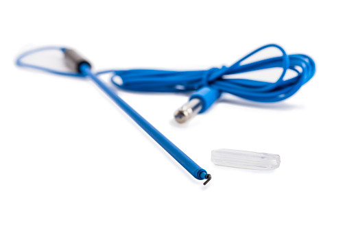 5mm Hook Electrode, Teflon Coated with Disposable Cable & 8mm Bovie Fitting