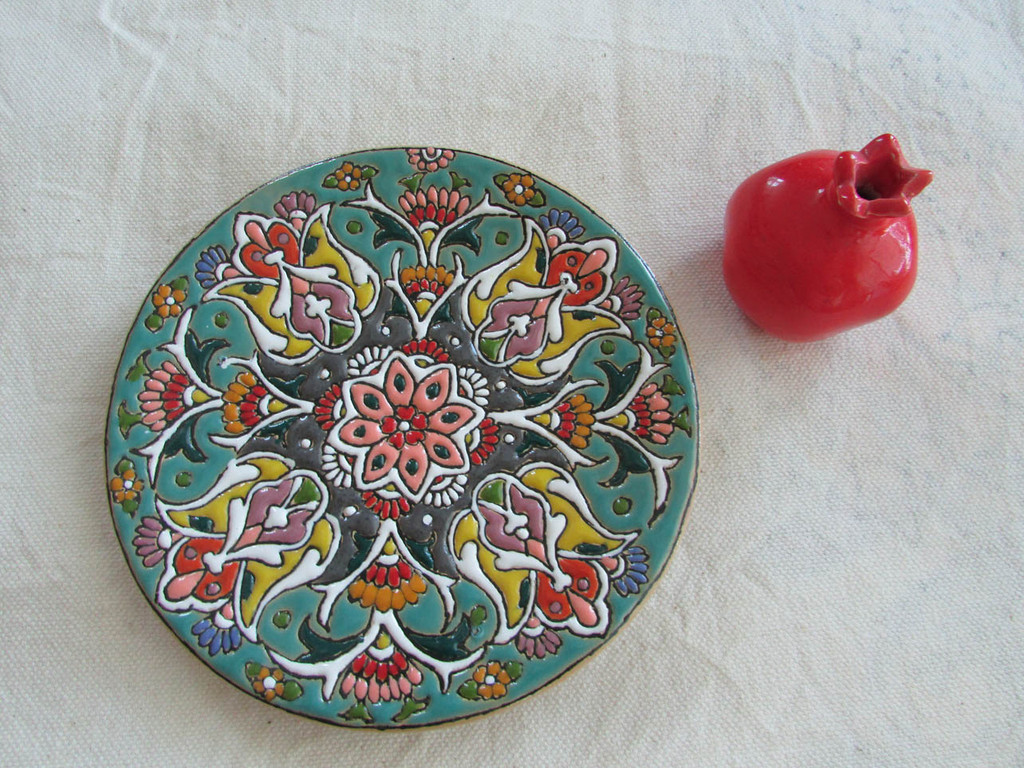 wall decor  wall hanging  ceramic plate  iranian plate  iranian handmade iranian handicraft Persian art