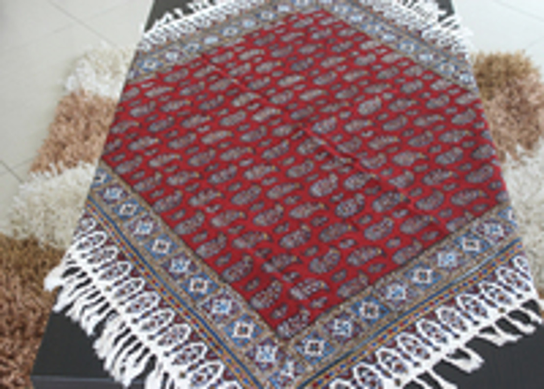 Block Printed tapestry (ghalamkari) , handmade tablecloth