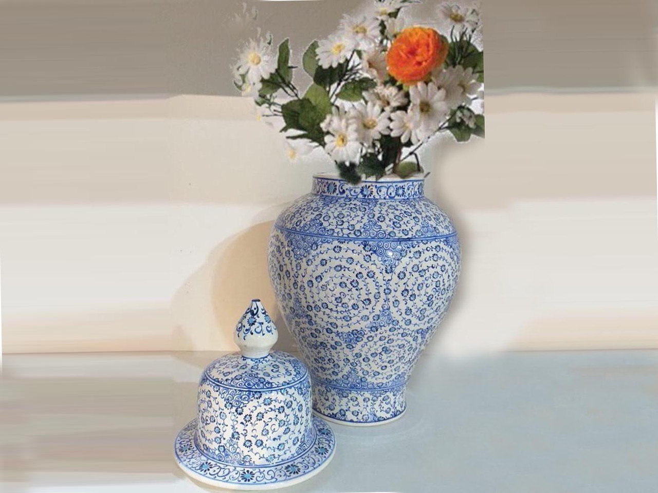Iznik Flower Vase Home Style Flower Vase Iznik Design