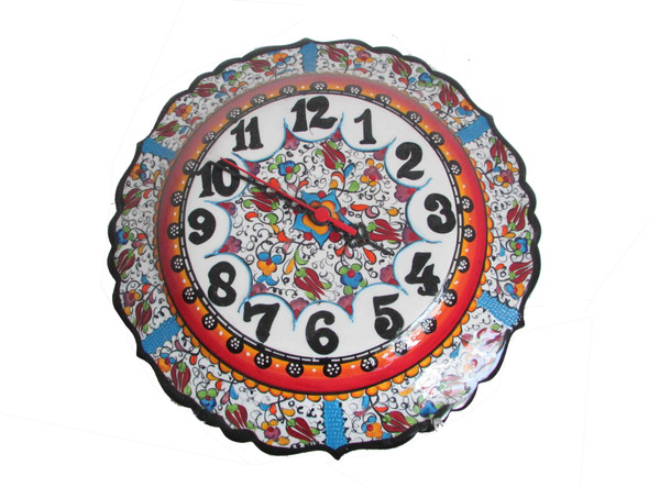 Turkish handicrafts wall clock  clock  ceramic clock
