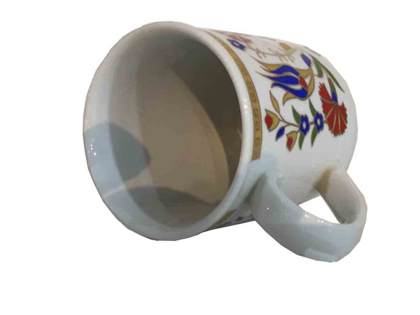 Turkish mug  ceramic mug  Tulip pattern