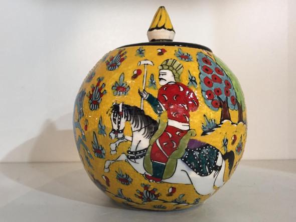 Ornamental Vase Jar with Lid