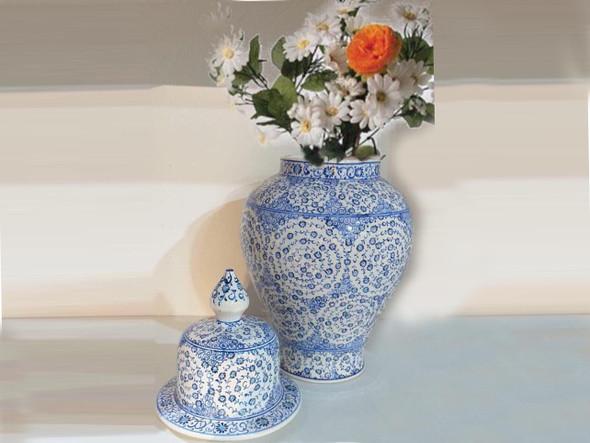 flower vase  Blue color  Flower jar  Ceramic Vase