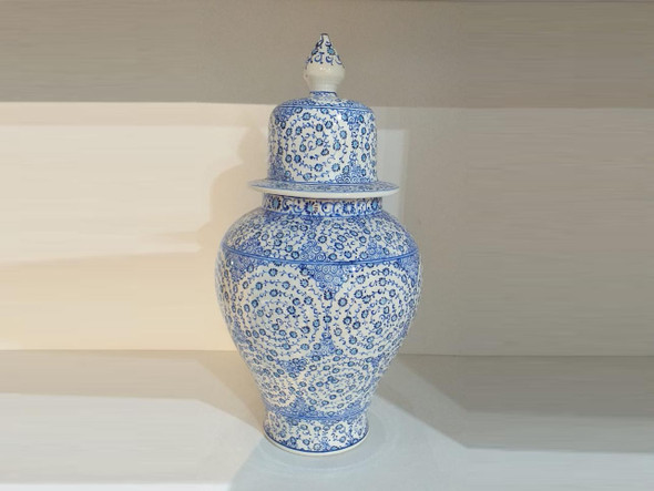 flower vase  Blue color  Flower jar  Ceramic Vase