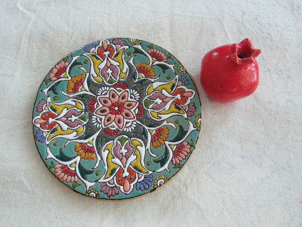 HANDMADE PLATE  Iranian plate  wall hanging plate