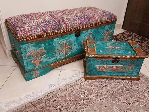 antique bench  antique box  unique box